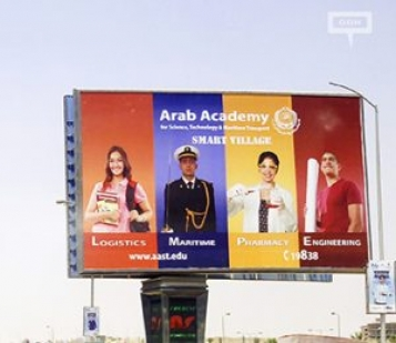 New outdoor campaign from Arab Academy