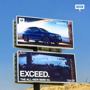 BMW presents the upgraded X3 on the billboards