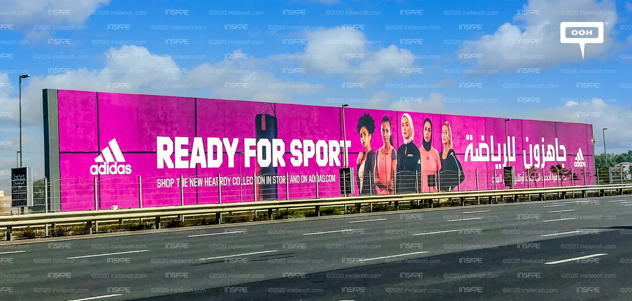 Adidas Is Ready For Sport With An Empowering Ooh Ad On Dubai S Billboards Insite Ooh Media Platform Outdoor Advertising Campaigns