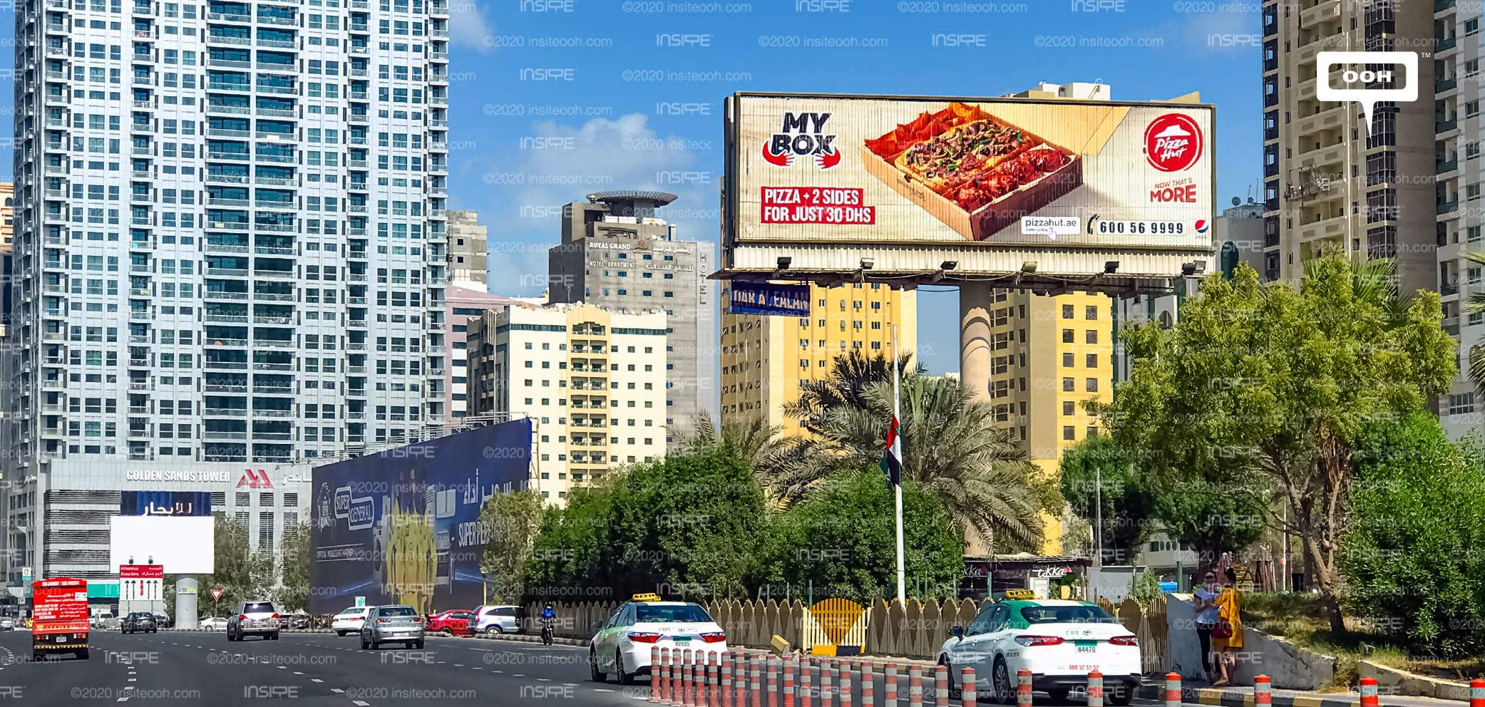 Pizza Hut Arrives At Uae S Billboards With The Convenient My Box Deals Insite Ooh Media Platform Outdoor Advertising Campaigns